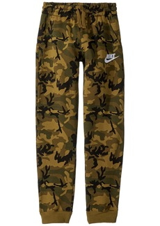 Nike NSW Club Fleece Jogger Camo Print Pants  (Big Kids)
