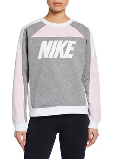 Nike NSW Colorblock Crewneck Logo Sweatshirt