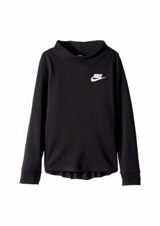 Nike NSW Long Sleeve Fleece Crew (Little Kids/Big Kids)