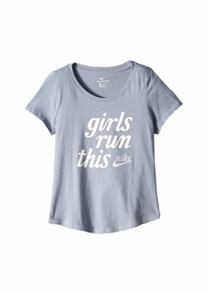 Nike NSW Run This Scoop Tee (Little Kids/Big Kids)