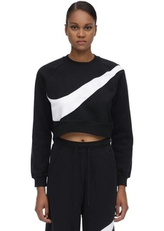 Nike Nsw Swsh Logo Cotton Blend Sweatshirt