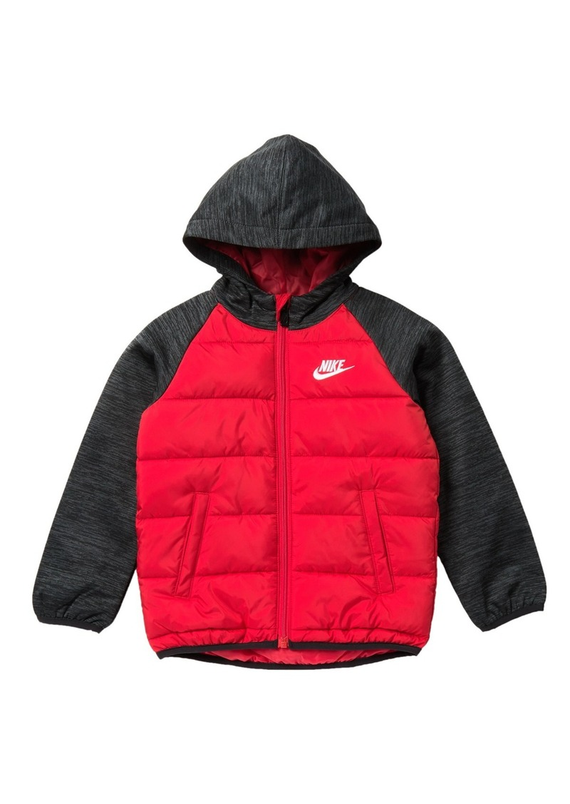 Nike NSW Therma Fleece Quilted Jacket (Toddler Boys)