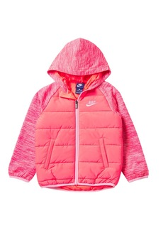 Nike NSW Therma Fleece Quilted Jacket (Toddler Girls)