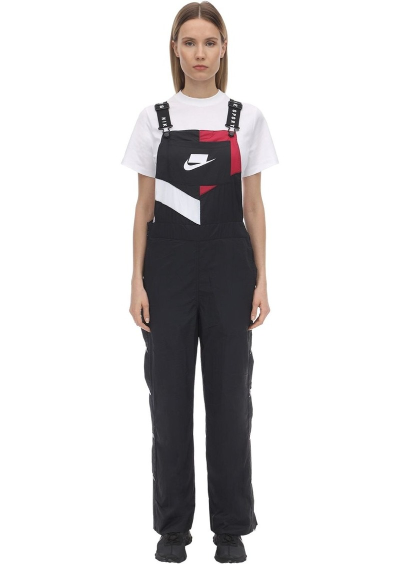 Nike Nsw Woven Logo Nylon Jumpsuit
