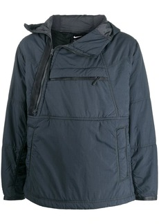 Nike off-centre zip hooded jacket
