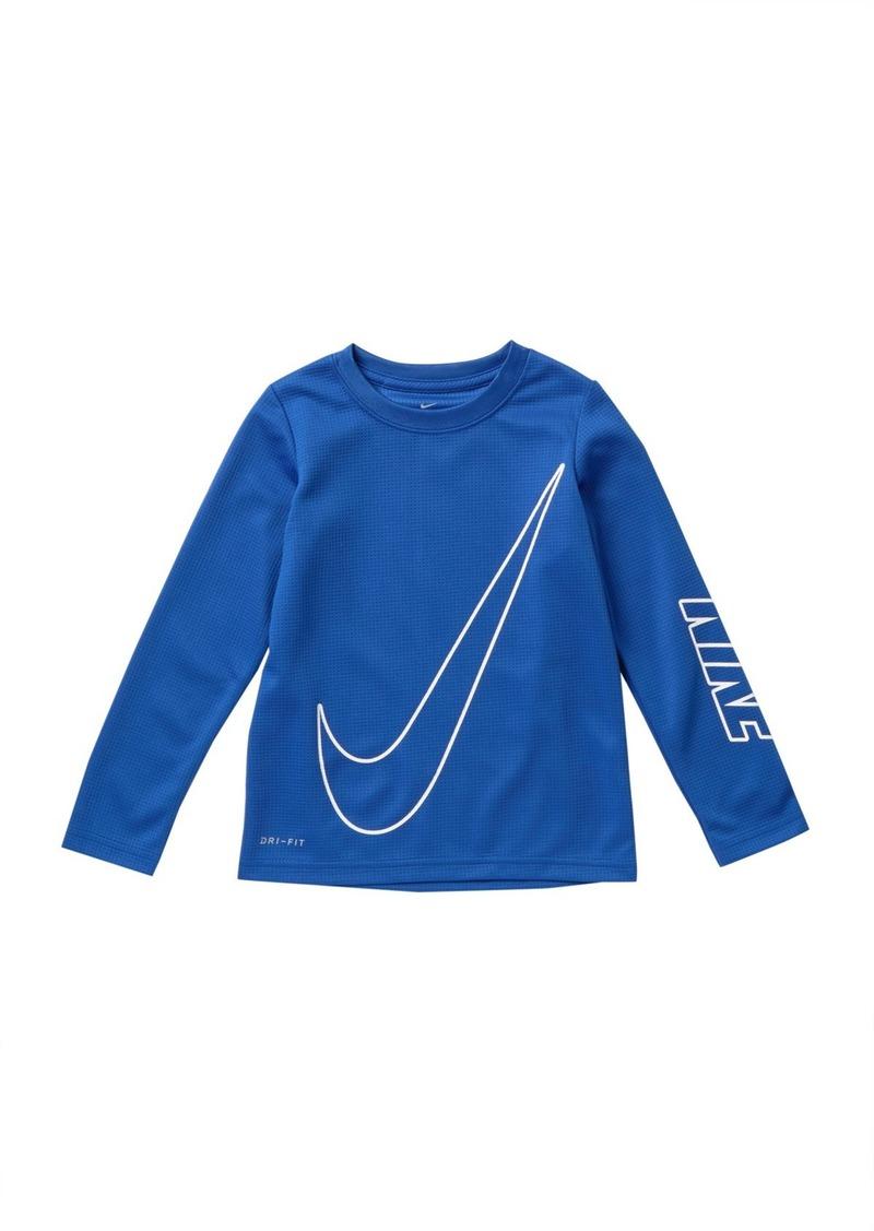 Nike Oversized Swoosh Dri Fit Thermal Tee (Toddler Boys)