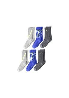 Nike Performance Cushioned Crew Training Socks 6-Pair Pack (Little Kid/Big  Kid)