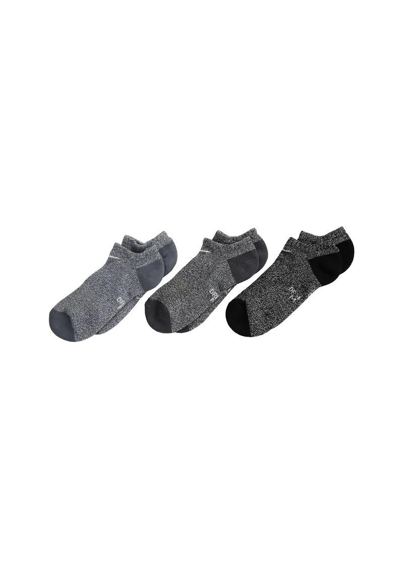 Nike Performance Cushioned Dri-Fit No Show Training Socks 3-Pair Pack (Little Kid/Big Kid)
