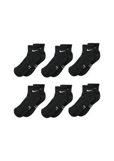 Nike Performance Cushioned Dri-Fit Quarter Training Socks 6-Pair Pack (Little Kid/Big Kid)