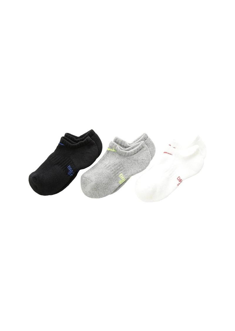 Nike Performance Cushioned No-Show Training Socks 3-Pair Pack (Little Kid/Big Kid)