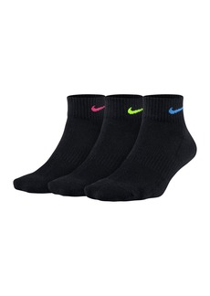 Nike Performance Cushioned Quarter Training Socks - Pack of 3