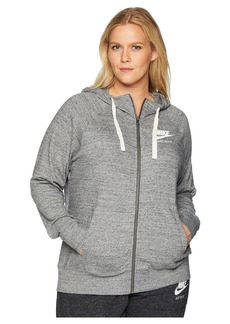 Nike Plus Size Gym Vintage Full Zip Extended Hoodie