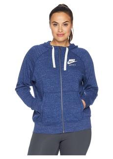 Nike Plus Size Gym Vintage Full Zip Extended Hoodie