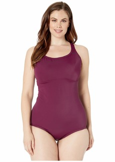 Nike Plus Size Solid Epic Racerback One-Piece