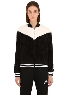 Nike Polar Bear Cropped Bomber Jacket