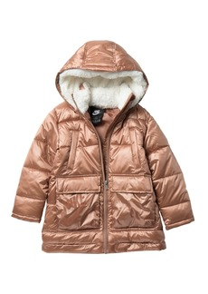 Nike Poly Fill Faux Shearling Lined Parka (Toddler Girls)