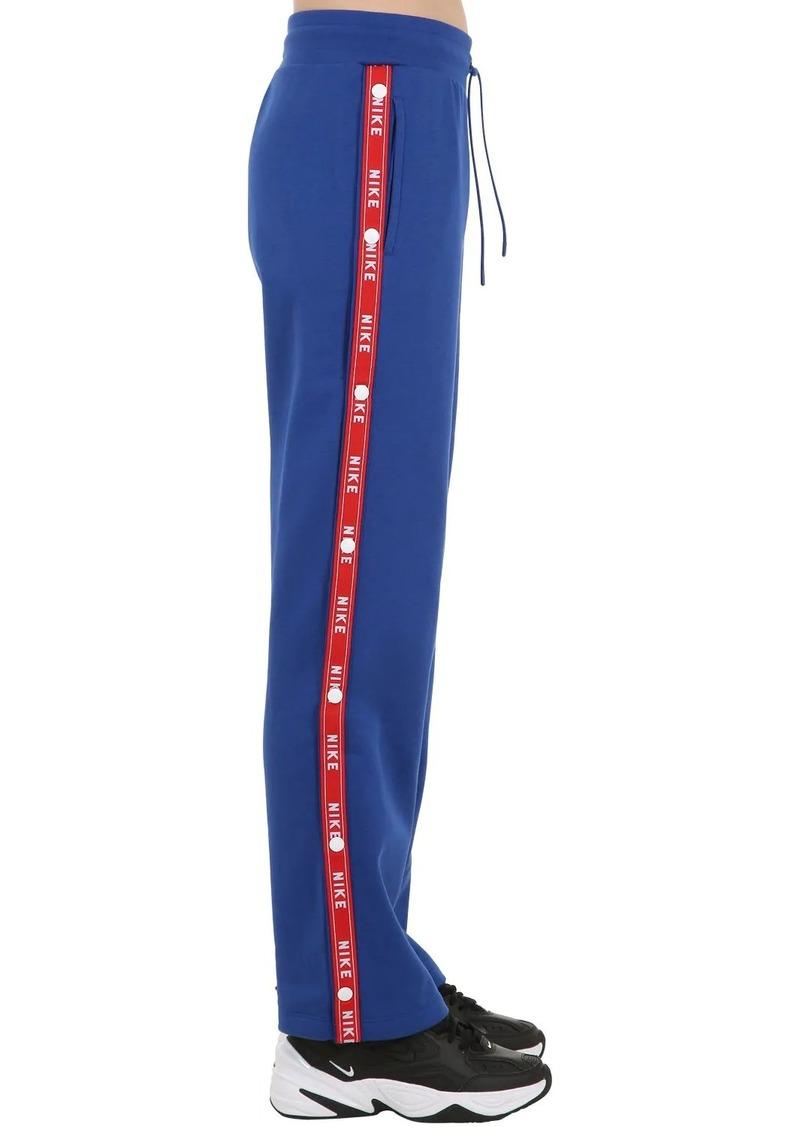 Nike Popper Logo Tape Cotton Track Pants