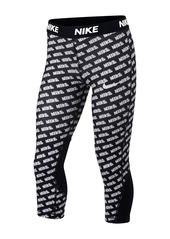 Nike Printed  Capri Leggings Big Girls)