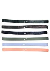 Nike Printed Headbands Assorted 6-Pack