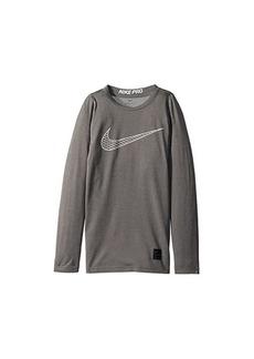 Nike Pro Fitted Long Sleeve Training Top (Little Kids/Big Kids)