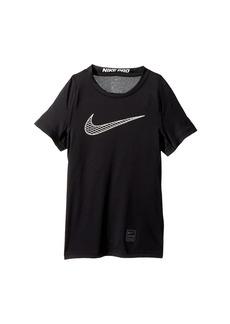 Nike Pro Fitted Short Sleeve Training Top (Little Kids/Big Kids)