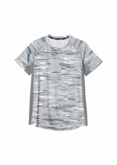 Nike Pro Short Sleeve Fitted All Over Print Top (Big Kids)