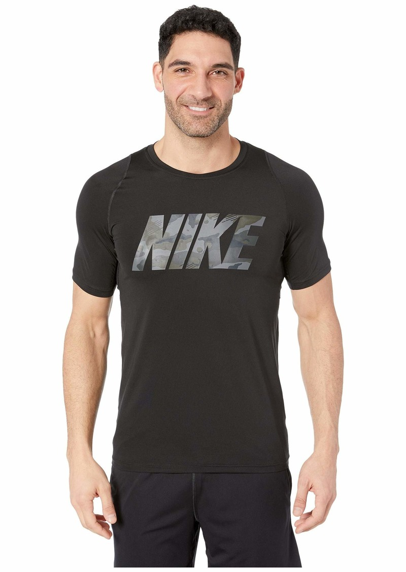 Nike Pro Top Short Sleeve Fitted 2 Layer Camo