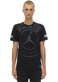 Nike Psg Logo Cotton T-shirt