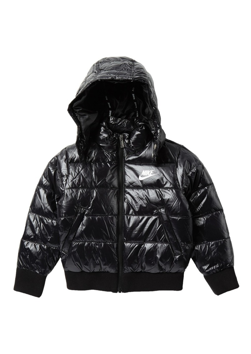 Quilted Puffer Hooded Jacket (Little Boys)