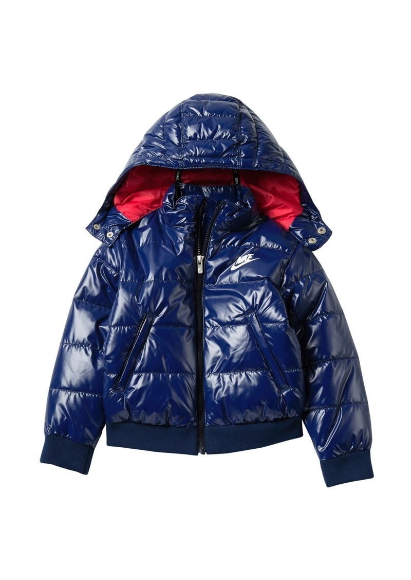 Nike Quilted Puffer Hooded Jacket (Toddler)