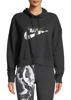 Nike Rally Metallic-Logo Hoodie