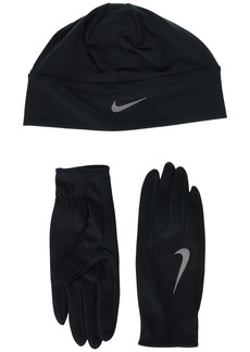 Nike Run Dry Hat and Gloves Set