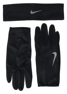 Nike Run Dry Headband and Gloves Set