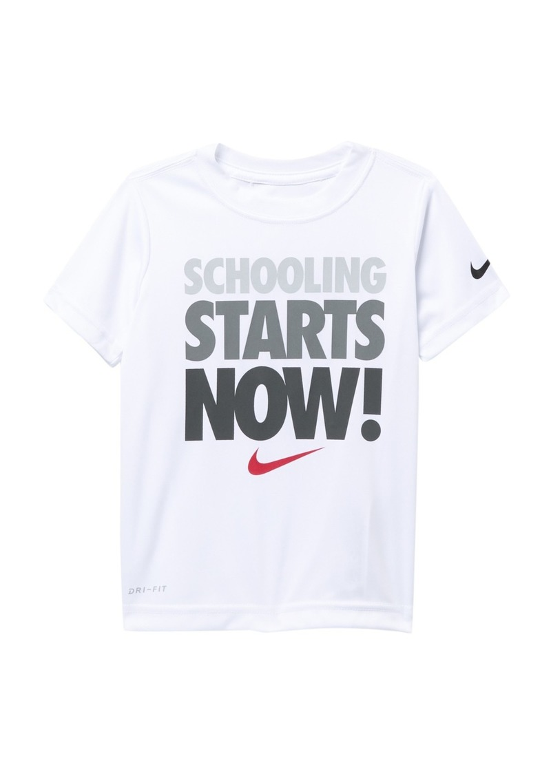 Nike Schooling Now Graphic Dri-Fit Tee (Toddler Boys)