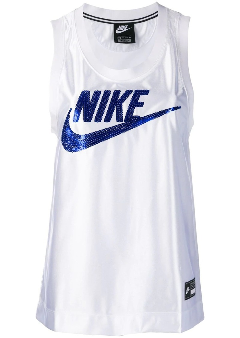 Nike sequin embroidered logo vest