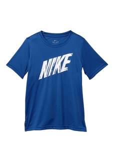 Nike Short Sleeve Dri-FIT Front Logo Tee (Big Boys)