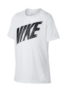 Nike Short Sleeve Dri-FIT Front Logo Tee (Big Boys)