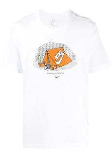 Nike short sleeve Swoosh tent T-shirt