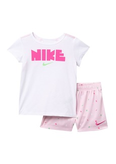 Nike Short Sleeve Top & Shorts Set (Toddler Girls)