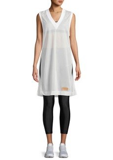 Nike Side-Split Sleeveless Mesh Shirtdress