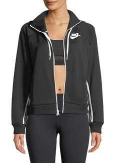 Nike Side-Striped Zip-Front Hoodie Track Jacket