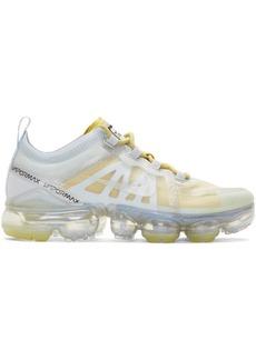 Nike Silver & Yellow Air Vapormax 2019 Sneakers