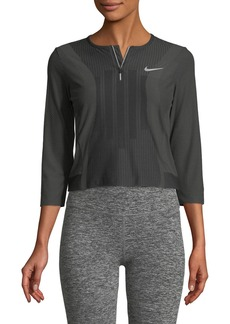 Nike Slam 3/4-Sleeve Quarter-Zip Performance Top