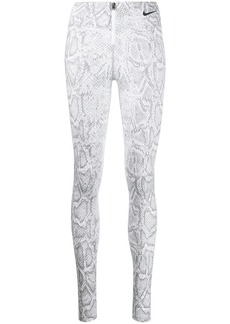 Nike snake-effect print zip leggings