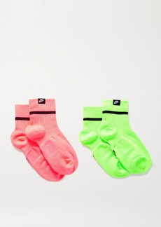 Nike Snkr Set Of Two Ribbed Stretch-knit Socks