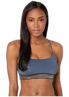 Nike Solid Cross-Back Bikini Top