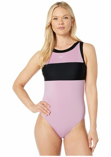 Nike Solid Splice High Neck One-Piece