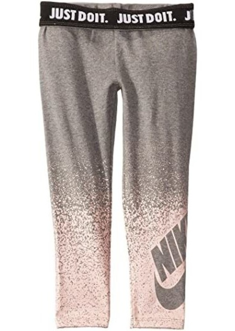 Nike Sportswear Metallic Spray Logo Leggings (Toddler/Little Kids)
