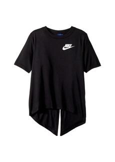 Nike Sportswear Split Short Sleeve Top (Little Kids/Big Kids)