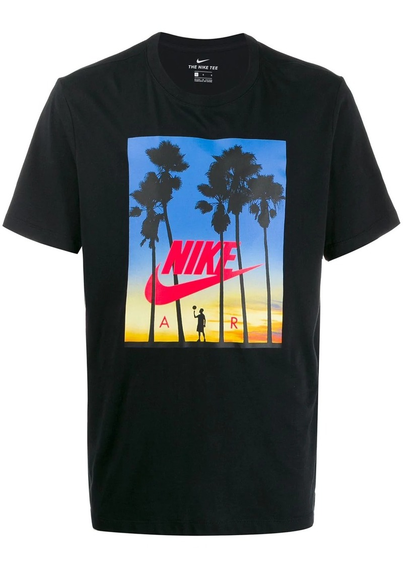 Nike Sunset logo print T-shirt